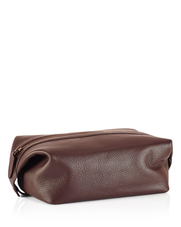 aff6c045dbb9 Lyst - Polo Ralph Lauren Pebbled Leather Shaving Kit in Brown for Men