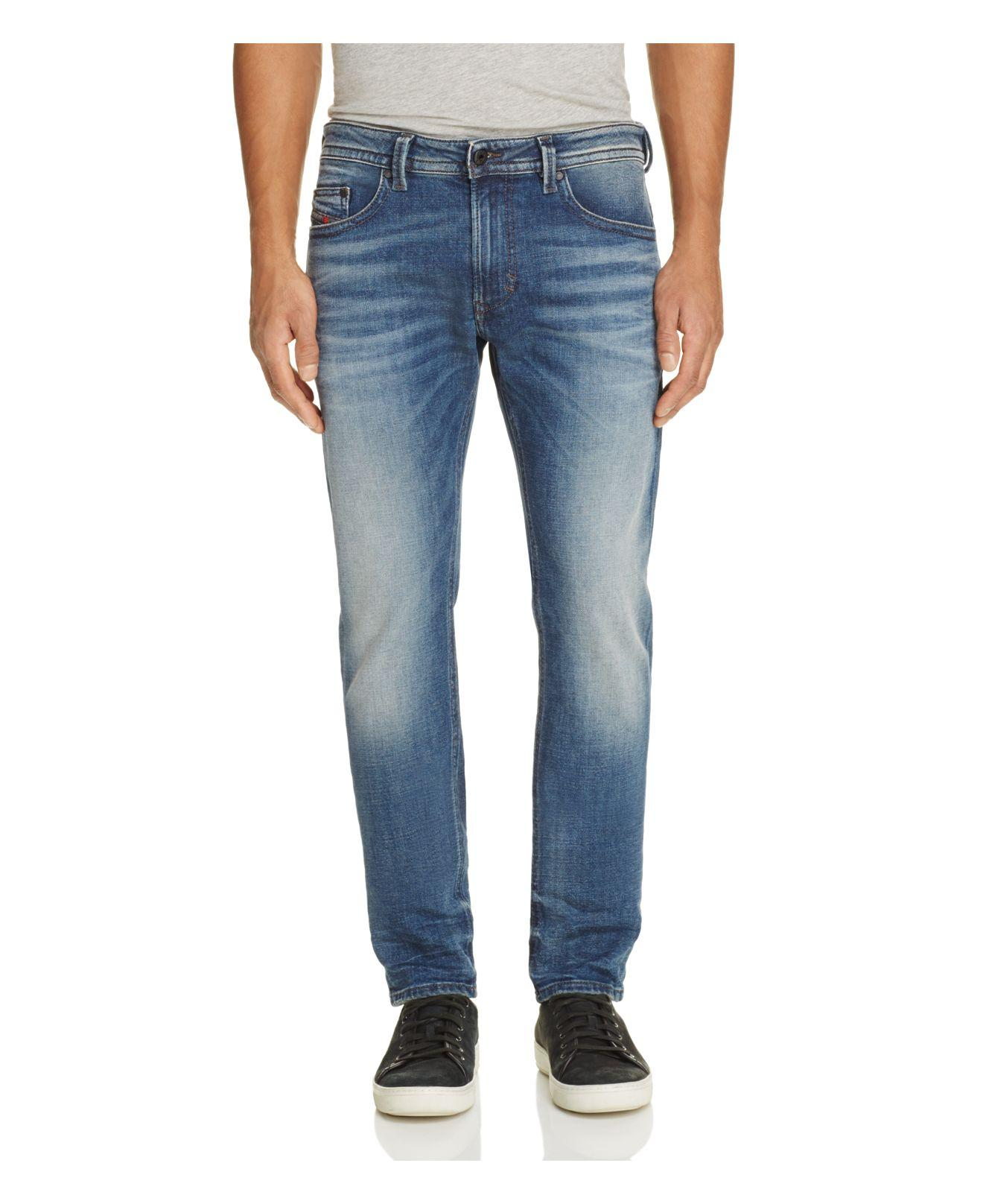 Lyst Diesel Thavar Super Slim Fit Jeans In Denim In Blue