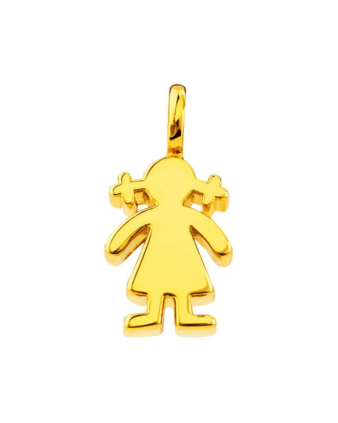 470364453d47 Lyst - Tous 18k Yellow Gold Sweet Dolls Mini Girl Pendant in Metallic