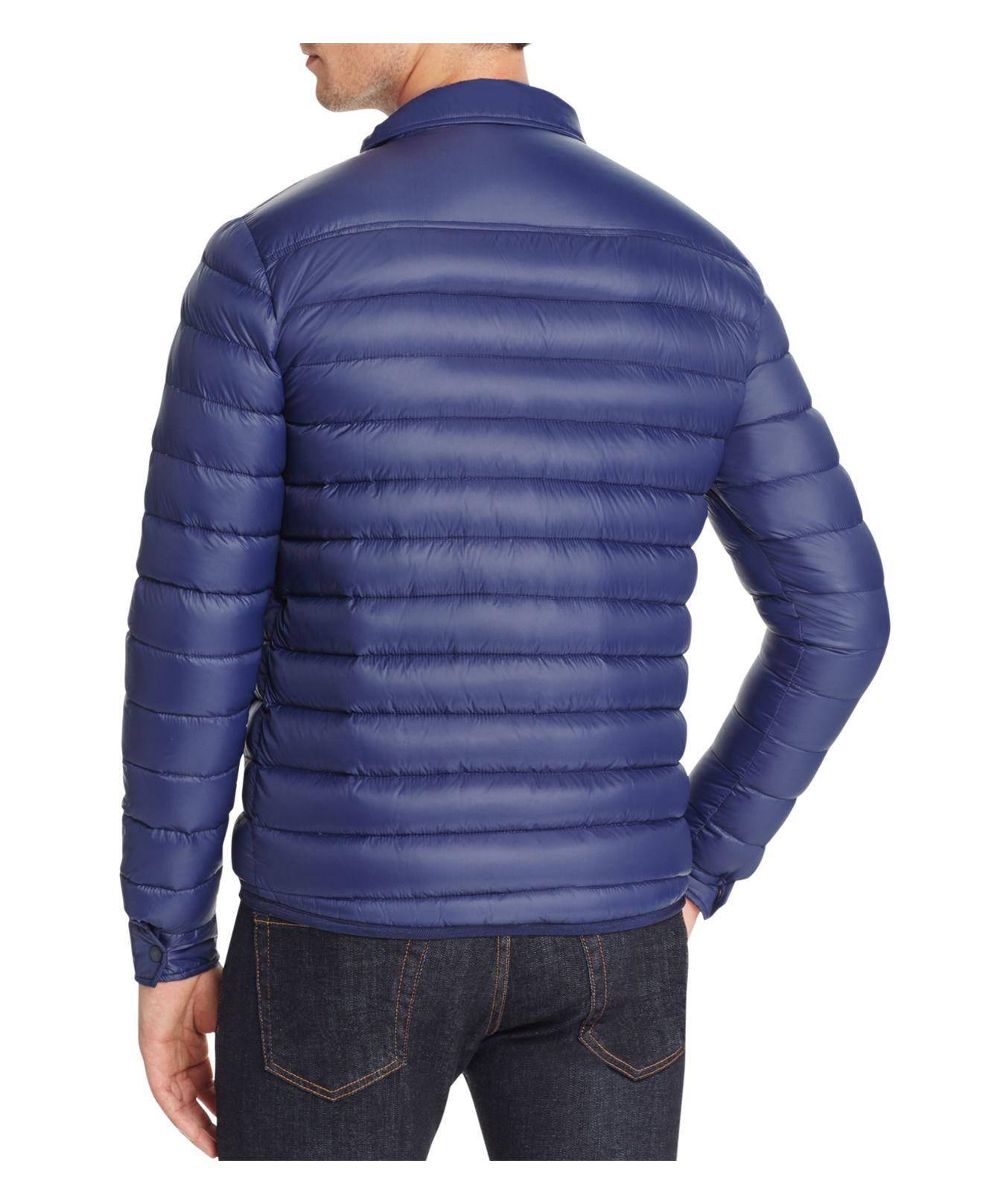 Lyst Slate Amp Stone Quilted Down Jacket In Blue For Men