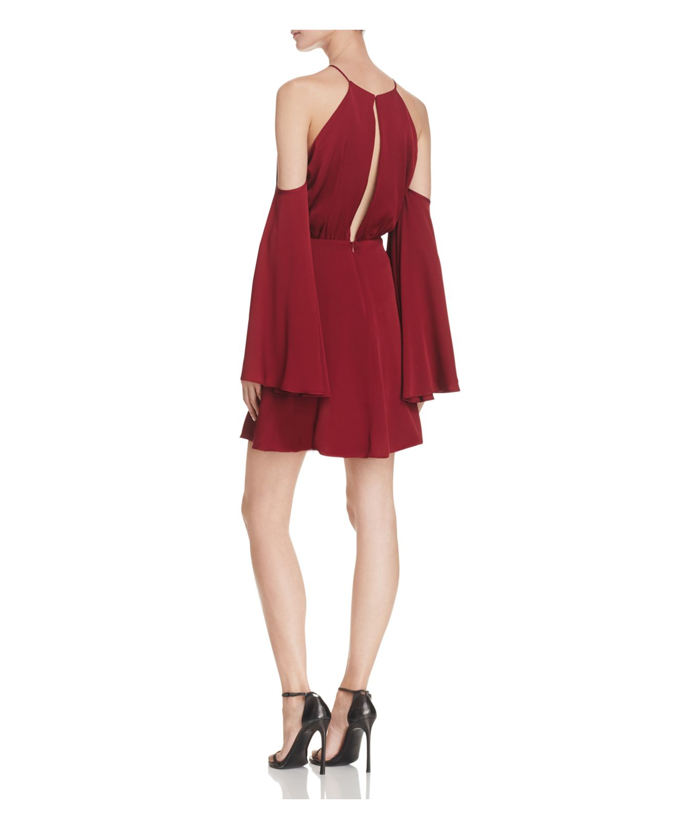 Lyst Milly Stretch Silk Melody Dress In Red