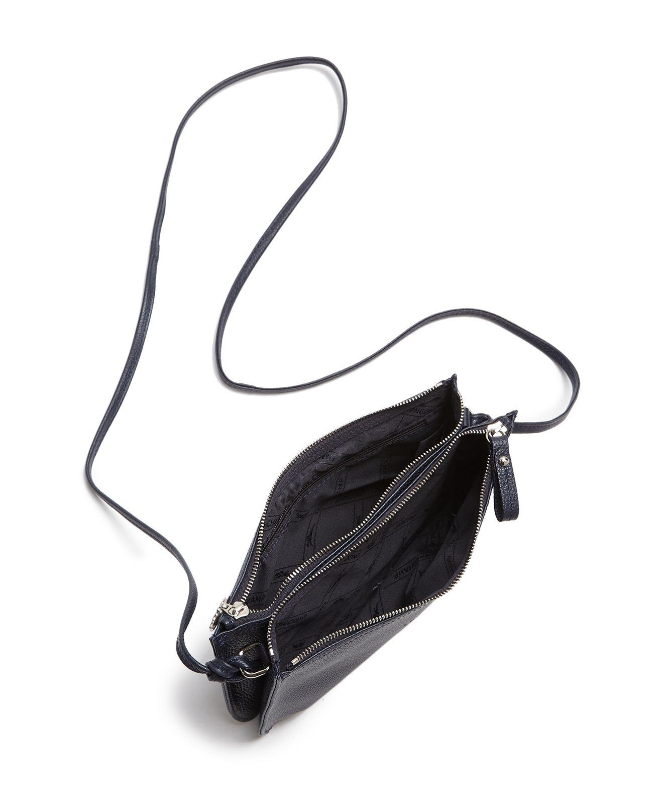 Lyst - Longchamp Le Foulonne Double Zip Leather Crossbody ffa15b83bb612
