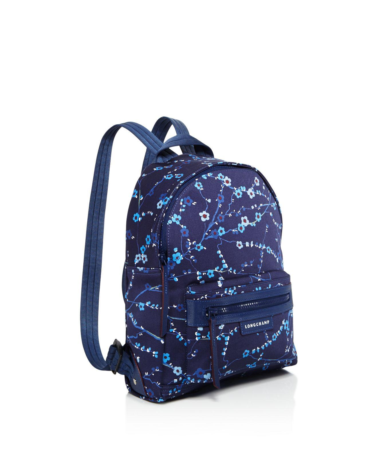 Lyst - Longchamp Le Pliage Neo Sakura Small Nylon Backpack in Blue 3ca77d655d92f