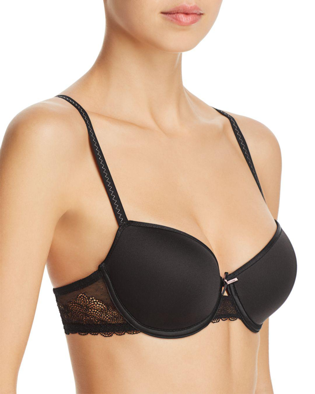 bc8117674b Lyst - Chantelle Le Marais Low Cut Smooth Custom Fit Bra in Black ...