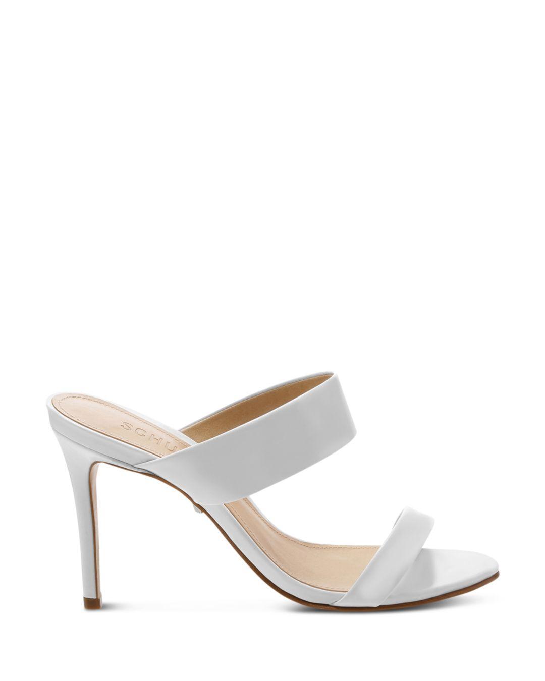 a1d6c10fbe3 Schutz Women s Leia High-heel Sandals in White - Lyst