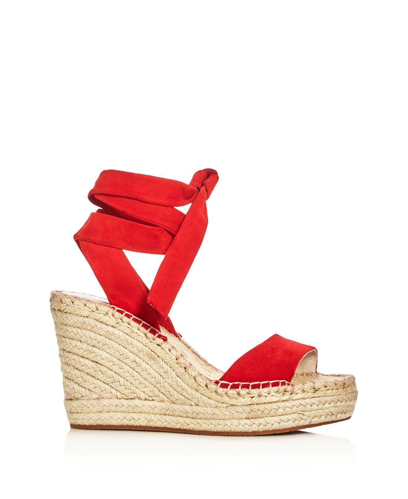 962a598692e Lyst - Kenneth Cole Odile Ankle Tie Espadrille Wedge Sandals