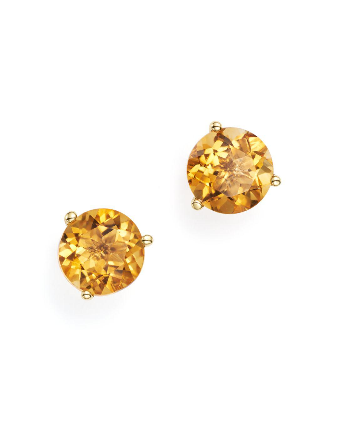 f9c379edb Bloomingdale's. Women's Metallic Citrine Stud Earrings In 14k Yellow Gold
