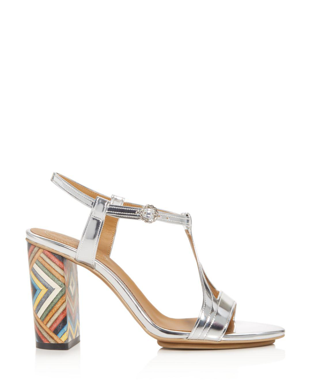 bbd41e5410f See By Chloé Women s Isida High Block-heel Sandals in Metallic - Lyst