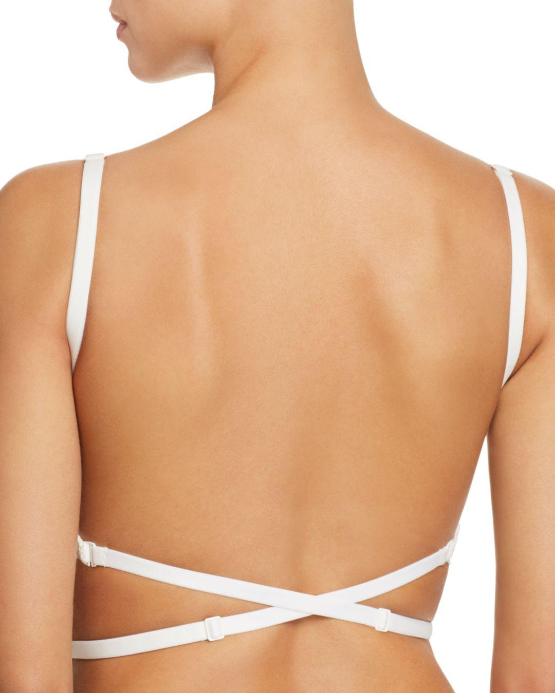 3b85d2751a Lyst - Simone Perele Eden Multi-way Deep Plunge Backless Underwire Bra in  White
