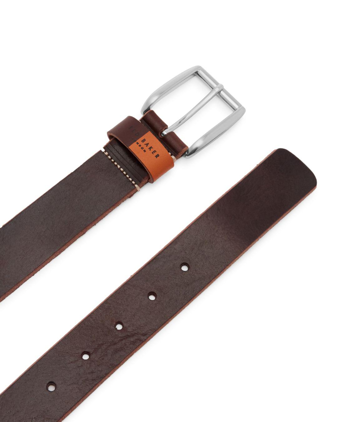 07720d80f Lyst - Ted Baker Quica Casual Leather Belt in Brown for Men