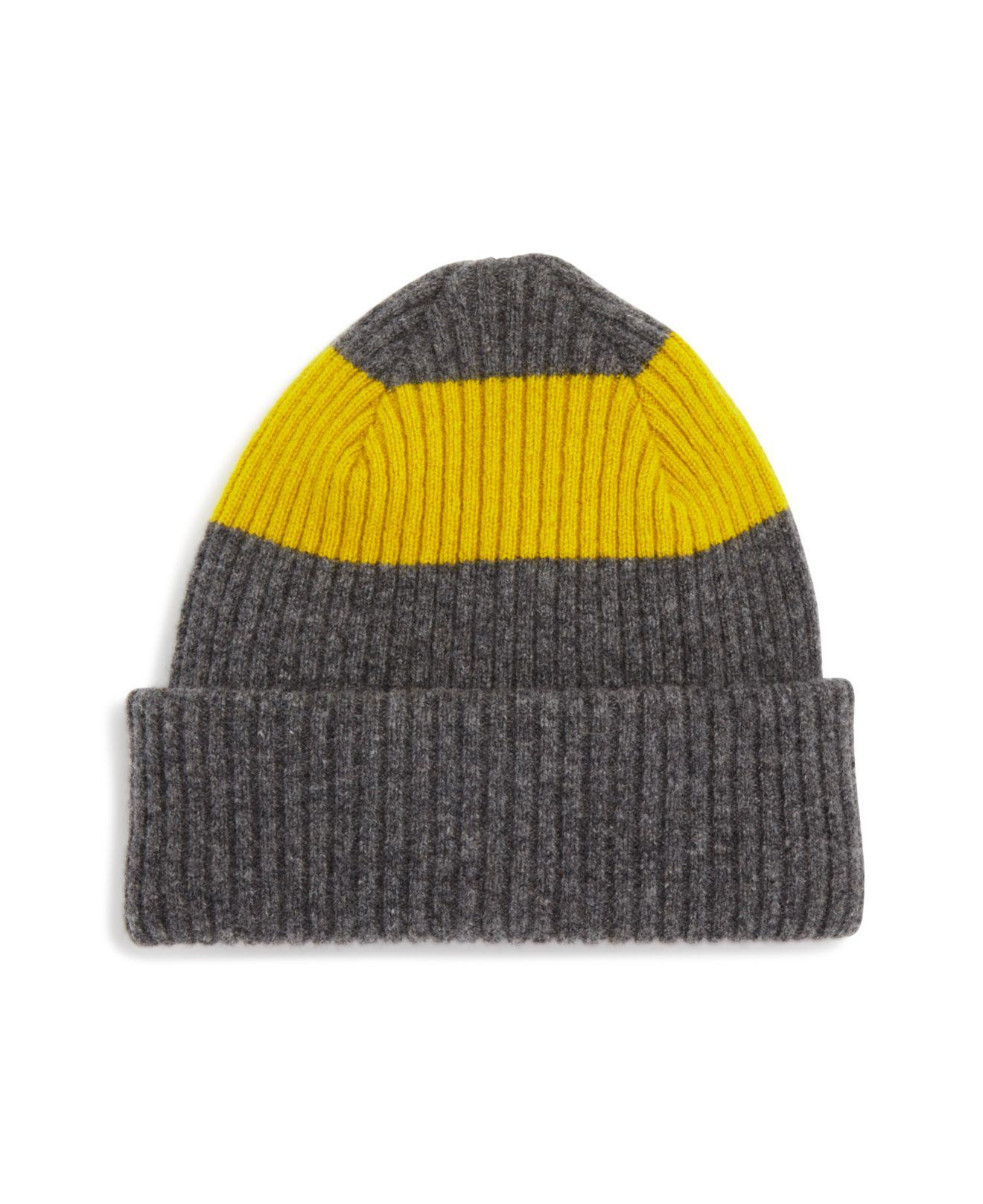 9a0be111e83 Paul Smith Color-block Lambswool Beanie Hat for Men - Lyst