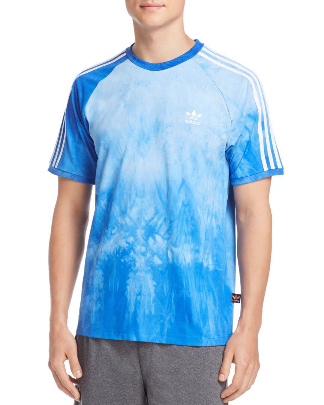 3a980e9a21199 adidas Originals Hu Holi Tie Dye Tee in Blue for Men - Lyst
