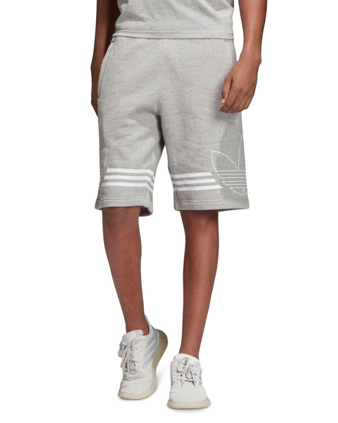 new product ed175 24beb adidas Originals. Mens Gray Outline Logo Shorts