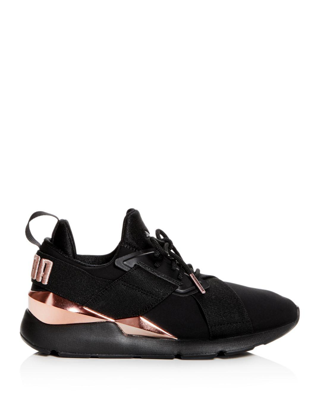 a808a4f0e700 Puma Women s Muse Low-top Sneakers in Black - Lyst