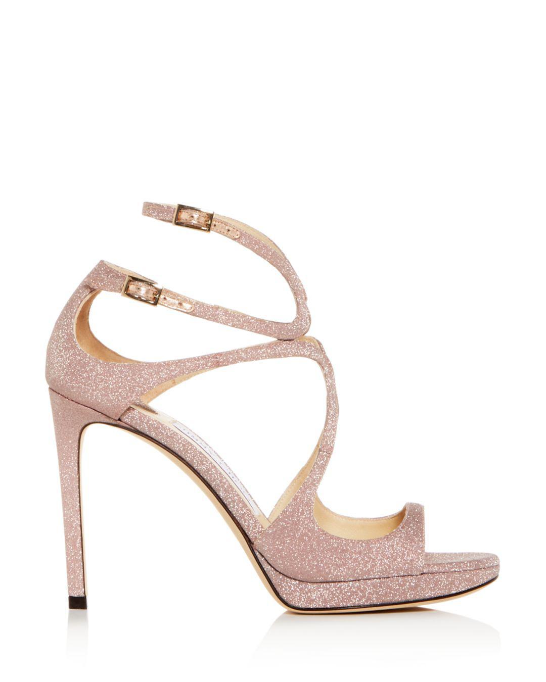 e03b73a3f4ba Lyst - Jimmy Choo Metallic Slingback Sandals in Pink