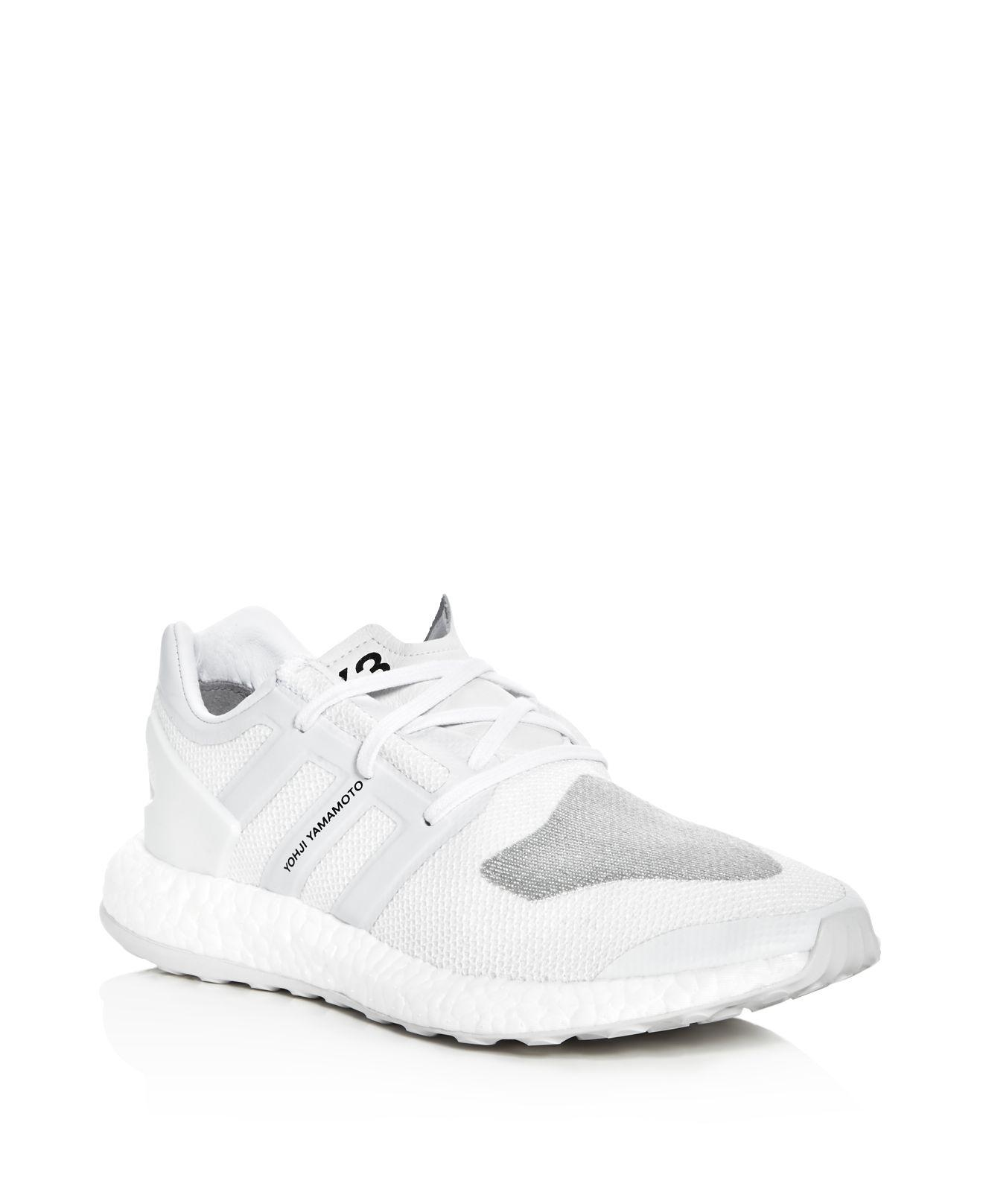 c325970f5a714 Lyst - Y-3 Men s Pureboost Lace Up Sneakers in White for Men