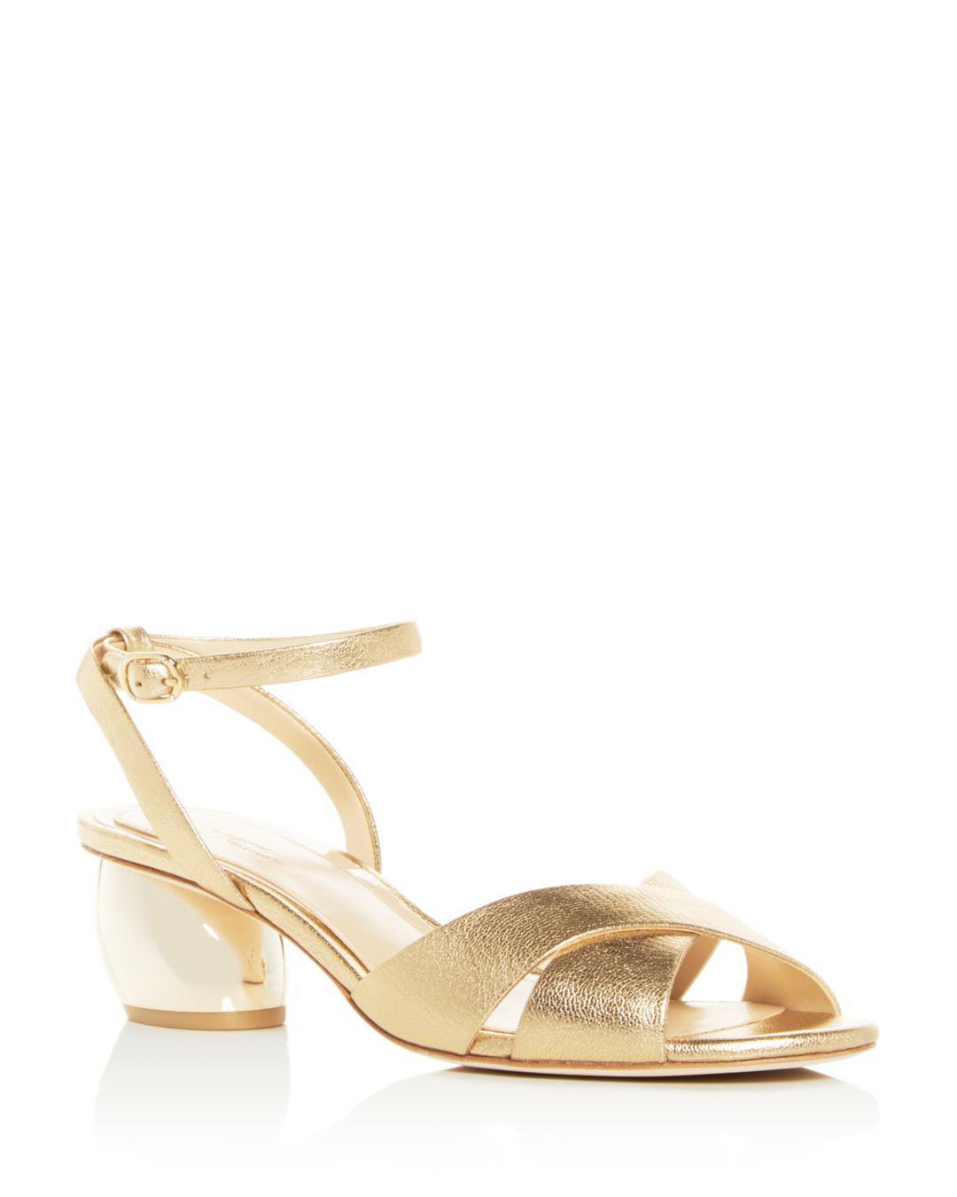 7ab60711169c Imagine Vince Camuto Women s Leven Mid-heel Sandals in Metallic - Lyst