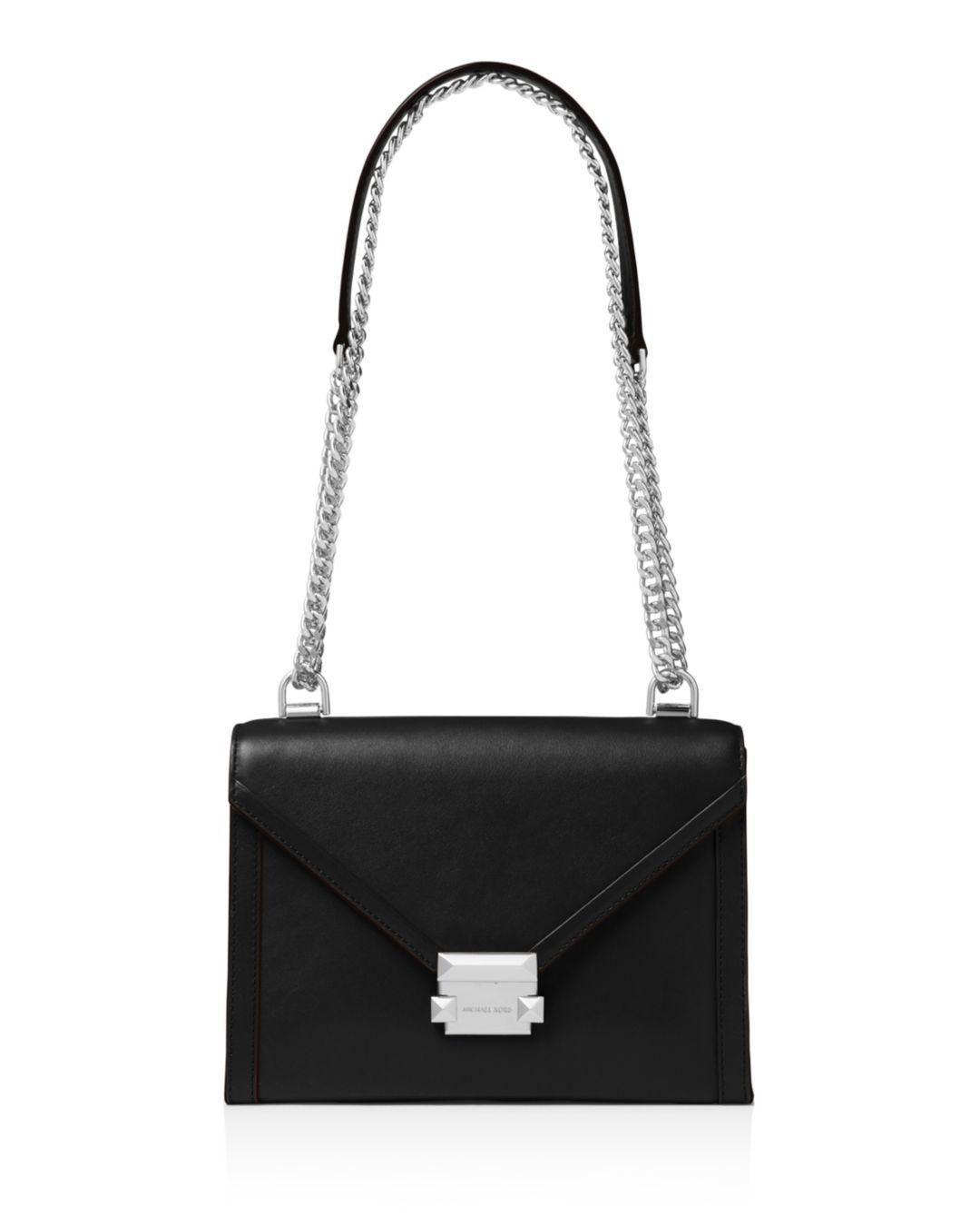 33df90d5f08c MICHAEL Michael Kors Whitney Large Leather Shoulder Bag in Black - Lyst