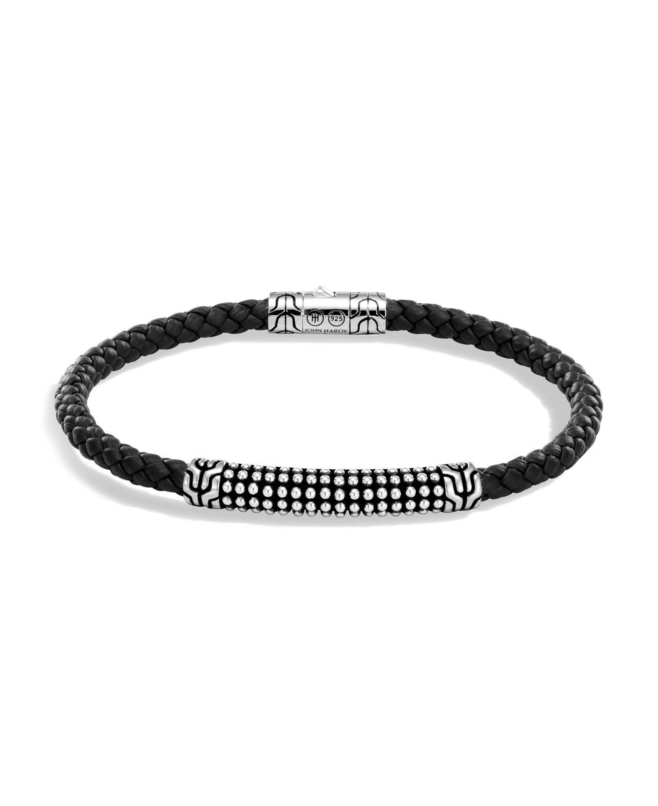 John Hardy Mens Classic Chain Link Jawan Sterling Silver Bracelet Vv76bY3Tl