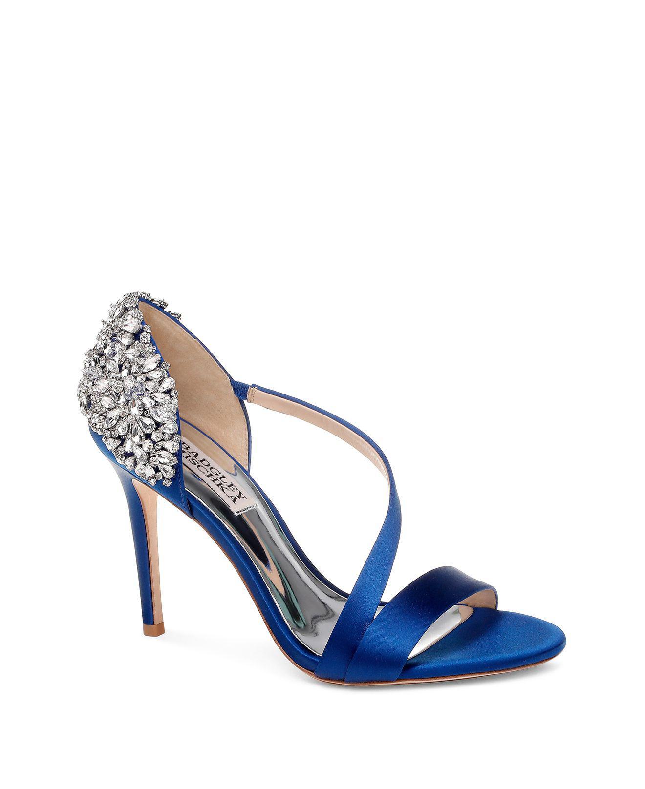 Badgley Mischka Women's Pauline Embellished Satin Crossover High-Heel Sandals CtkF37Ve