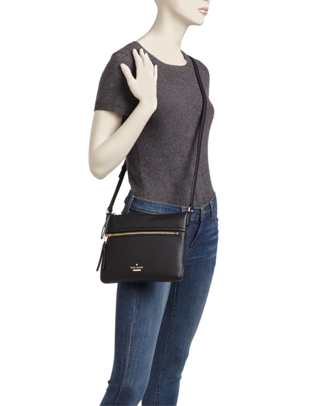 ca9e59d9f Kate Spade Jackson Street Gabriele Leather Crossbody - Lyst