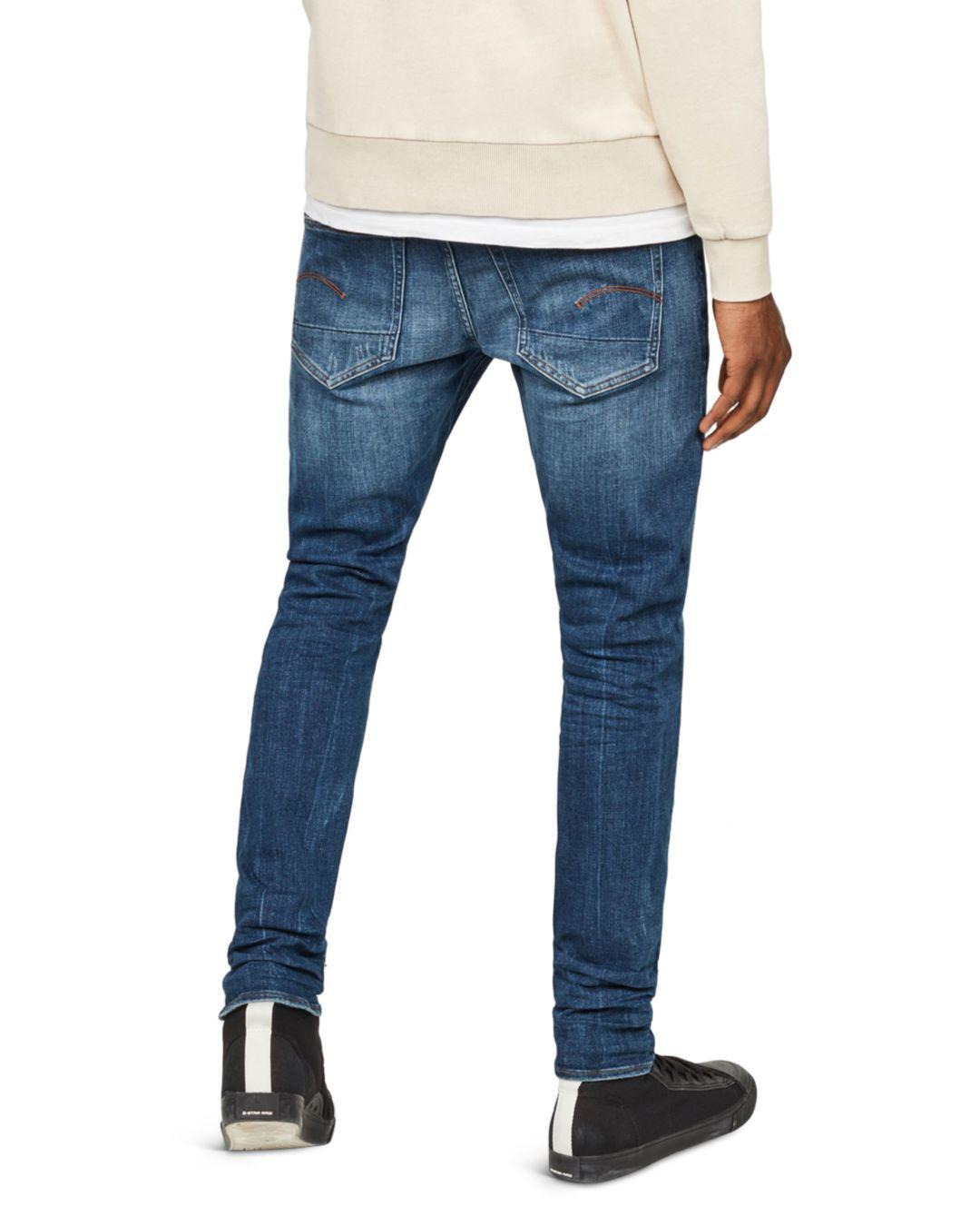 61e2c8e8bb Lyst - G-Star RAW 3301 Slim Fit Stretch Jeans In Dark Aged 86 in Blue for  Men