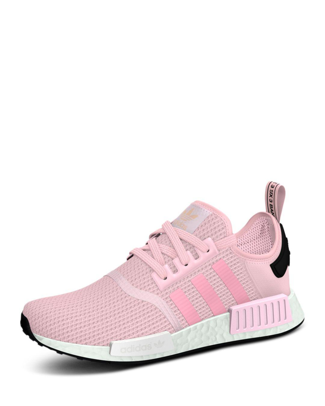 Lyst - adidas Women s Nmd R1 Knit Lace Up Sneakers in Pink 1800a3363673