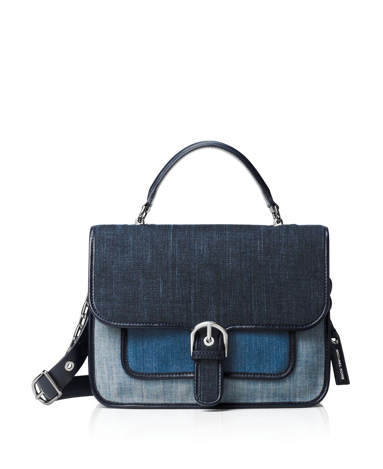 297b256de8f8 MICHAEL Michael Kors Cooper Large Denim School Satchel Bag in Blue ...