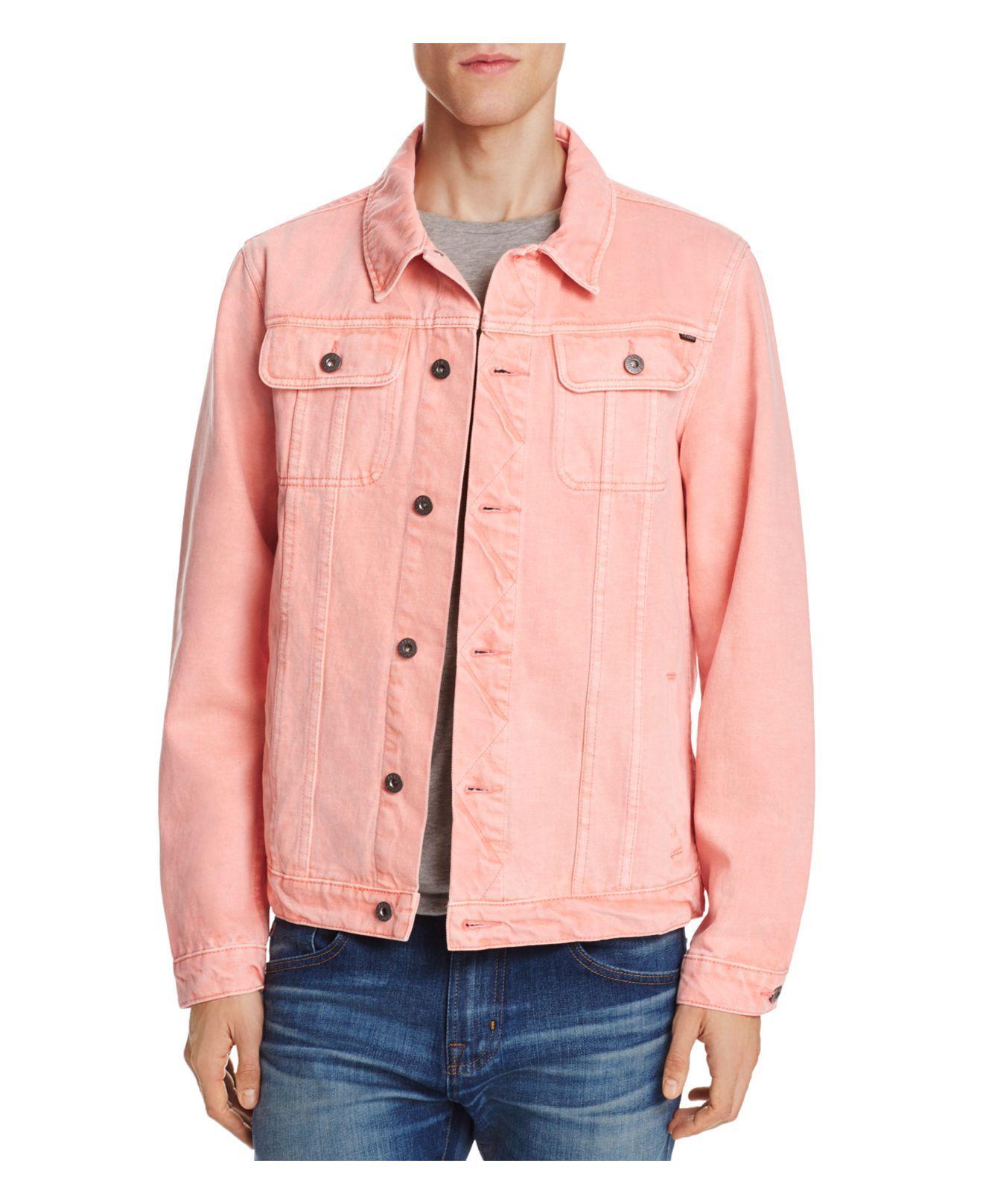 Lyst Barney Cools Denim Jacket In Pink For Men