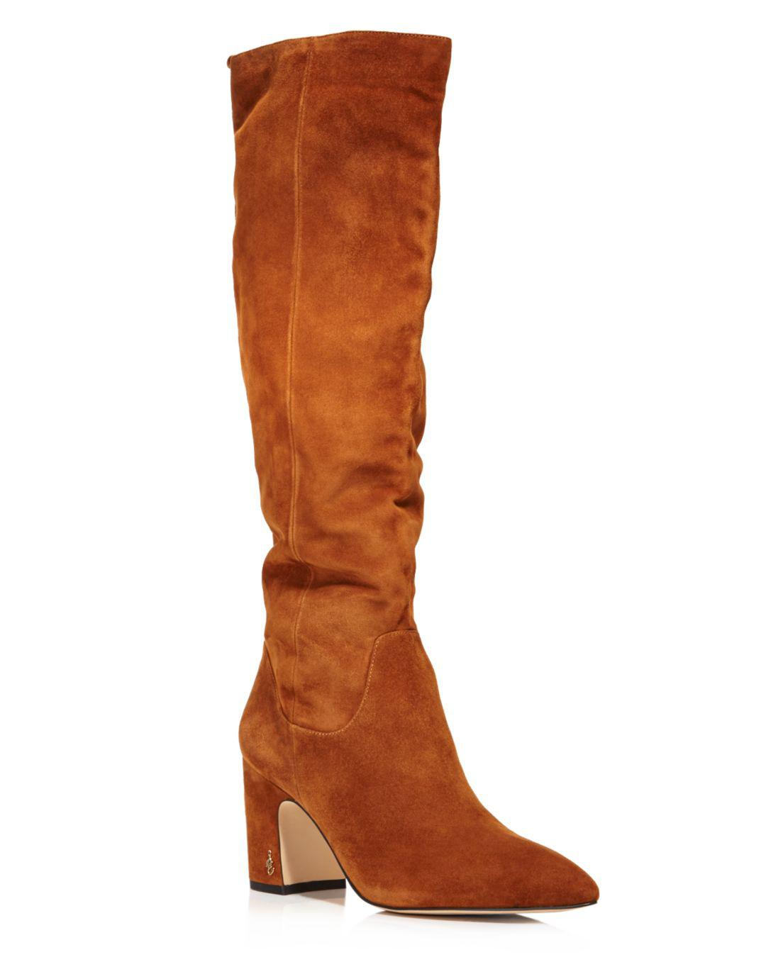 896df76875e Sam Edelman Women s Hai Suede Tall Boots in Brown - Lyst
