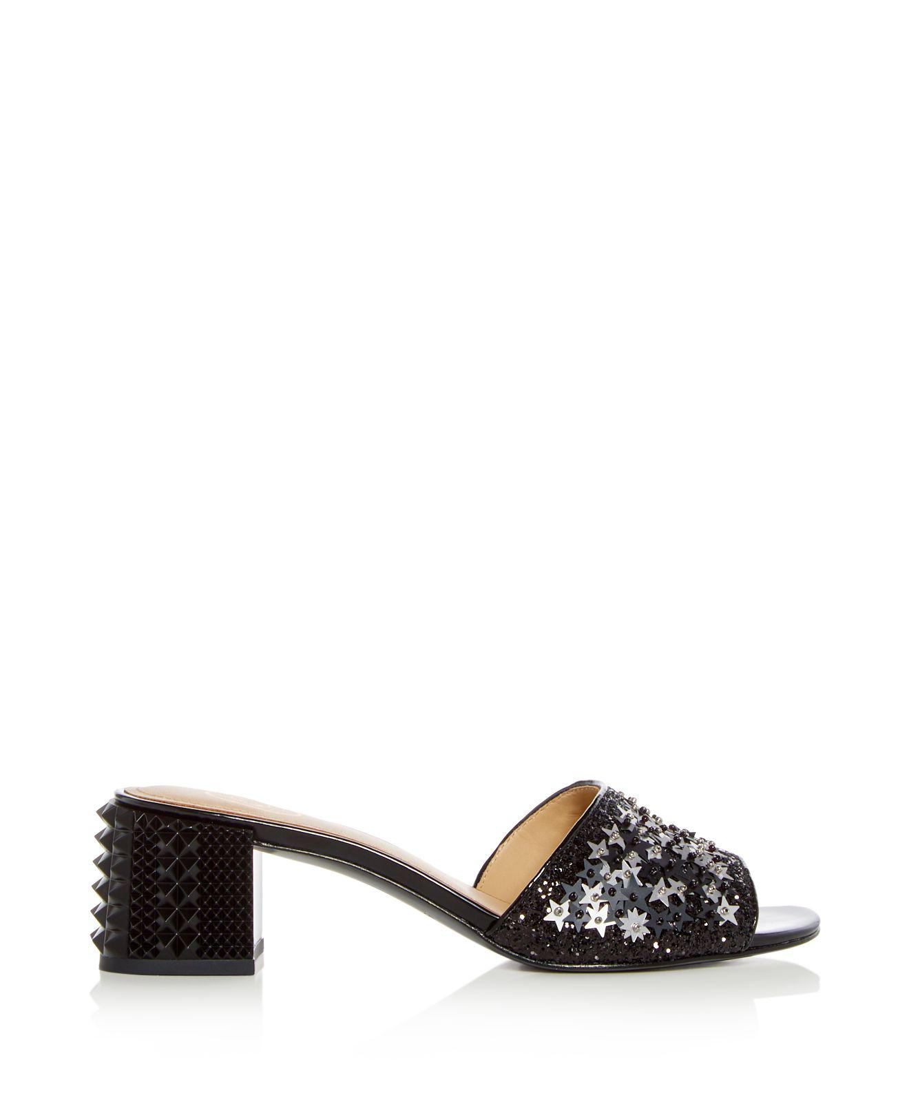 Ash Women's Ruby Star Embellished Block Heel Slide Sandals zvIqw