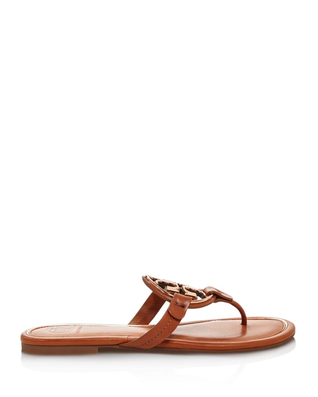 559db83f87ab Tory Burch Women s Metal Miller Leather Thong Sandals - Lyst