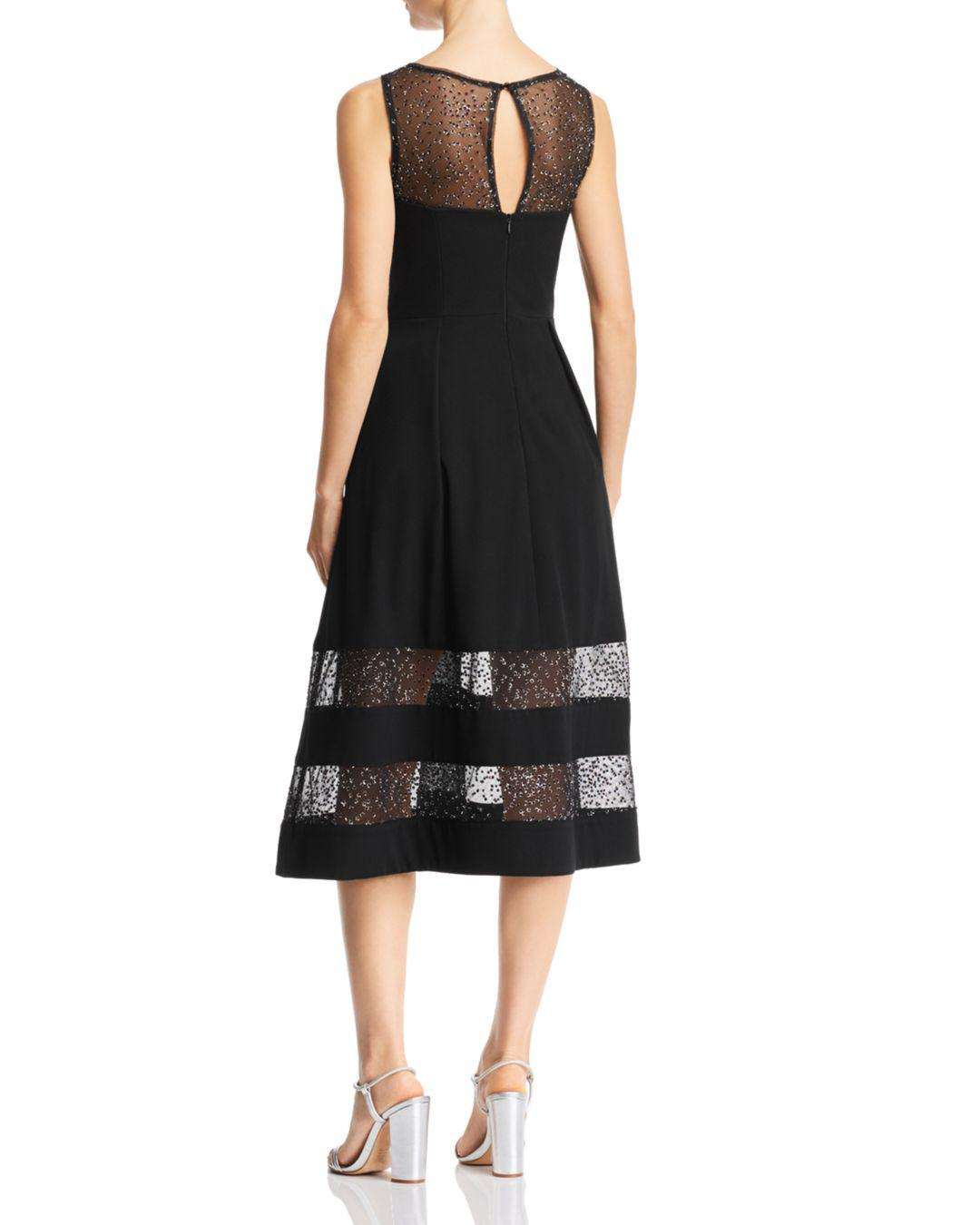f76529bf99c Lyst - Aidan By Aidan Mattox Embroidered Crepe Dress in Black - Save 20.0%