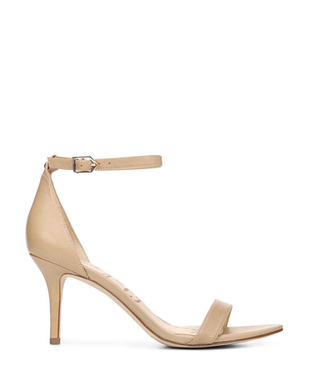a0e48f566 Lyst - Sam Edelman Women s Patti Open Toe Leather High-heel Sandals in  Natural
