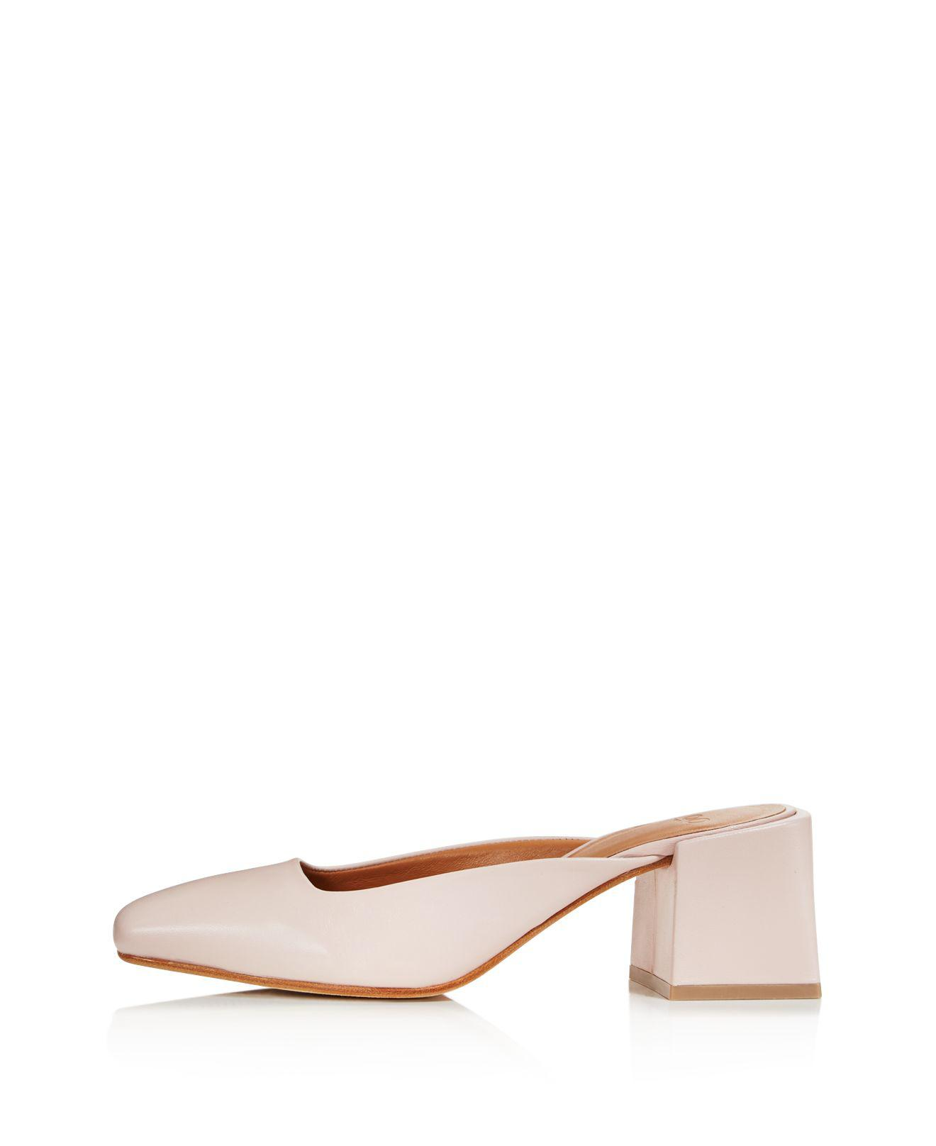LOQ Women's Leather Square Heel Mules UIrfcK