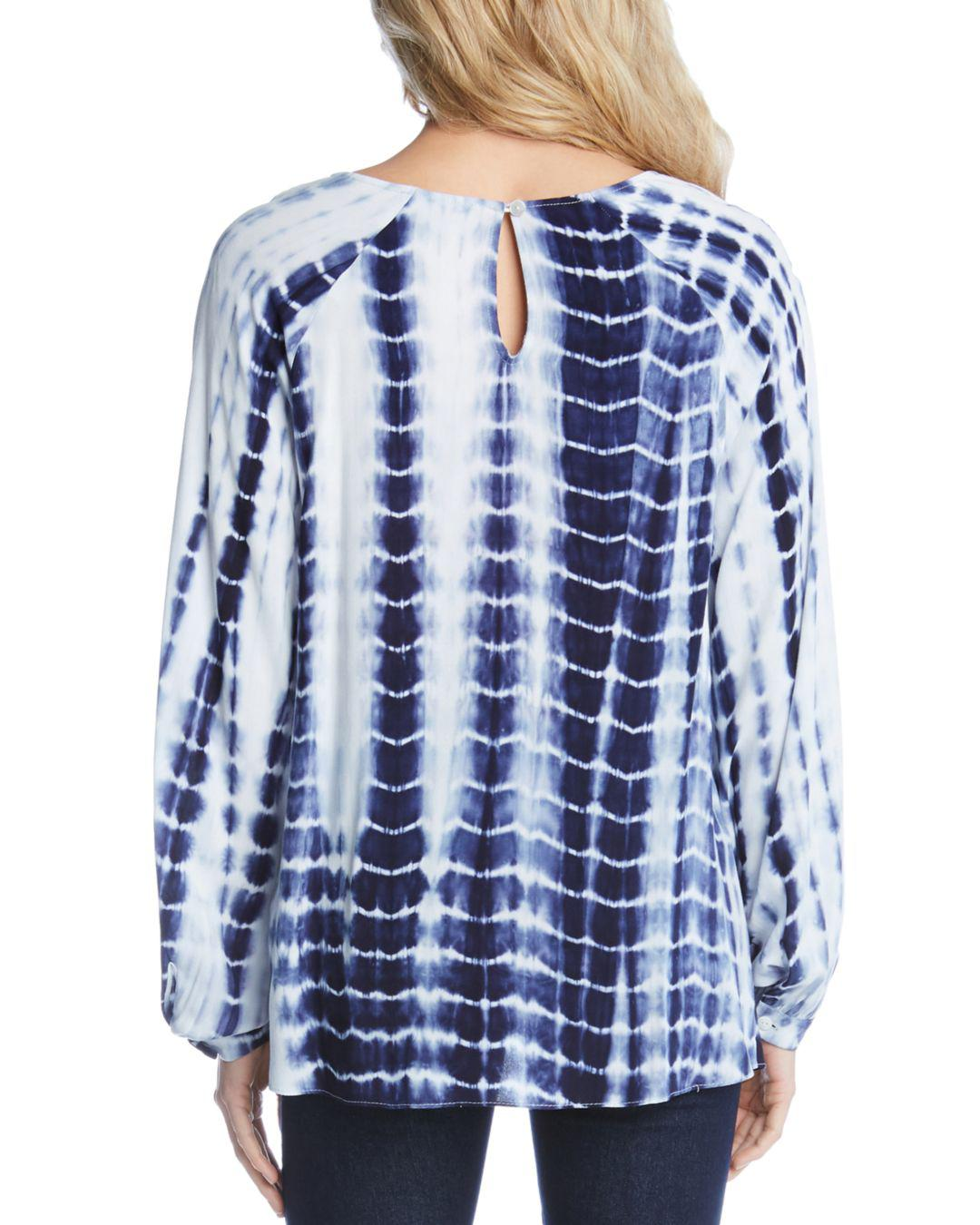 078bfa18d4c32 Lyst - Karen Kane Tie-dye Twist-hem Top in Blue