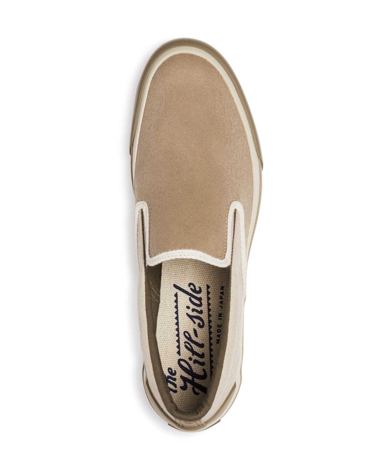c8377794cdda2a Lyst - The Hill-side Two-tone Synth Suede Slip-on Sneakers in ...