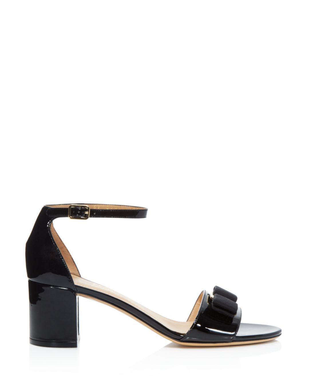 a1e0b22165e0 Lyst - Ferragamo Women s Gavina Ankle Strap Block Heel Sandals in Natural -  Save 8%