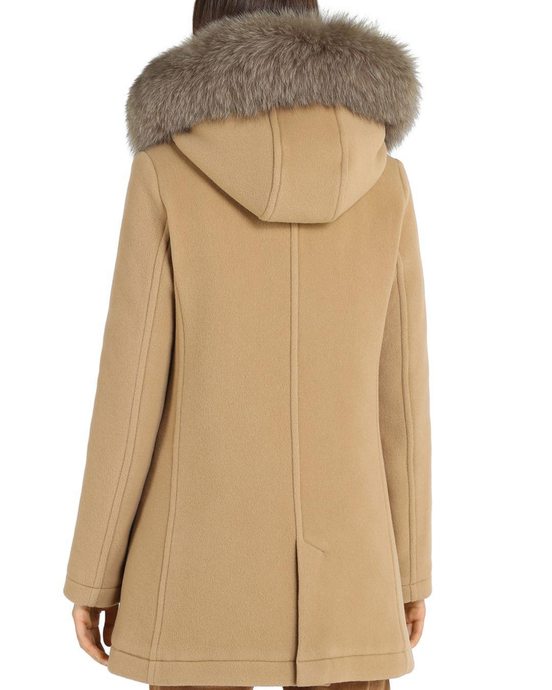 715640dcaff0c Woolrich Mckenzie Fox Fur Trim Parka in Natural - Lyst
