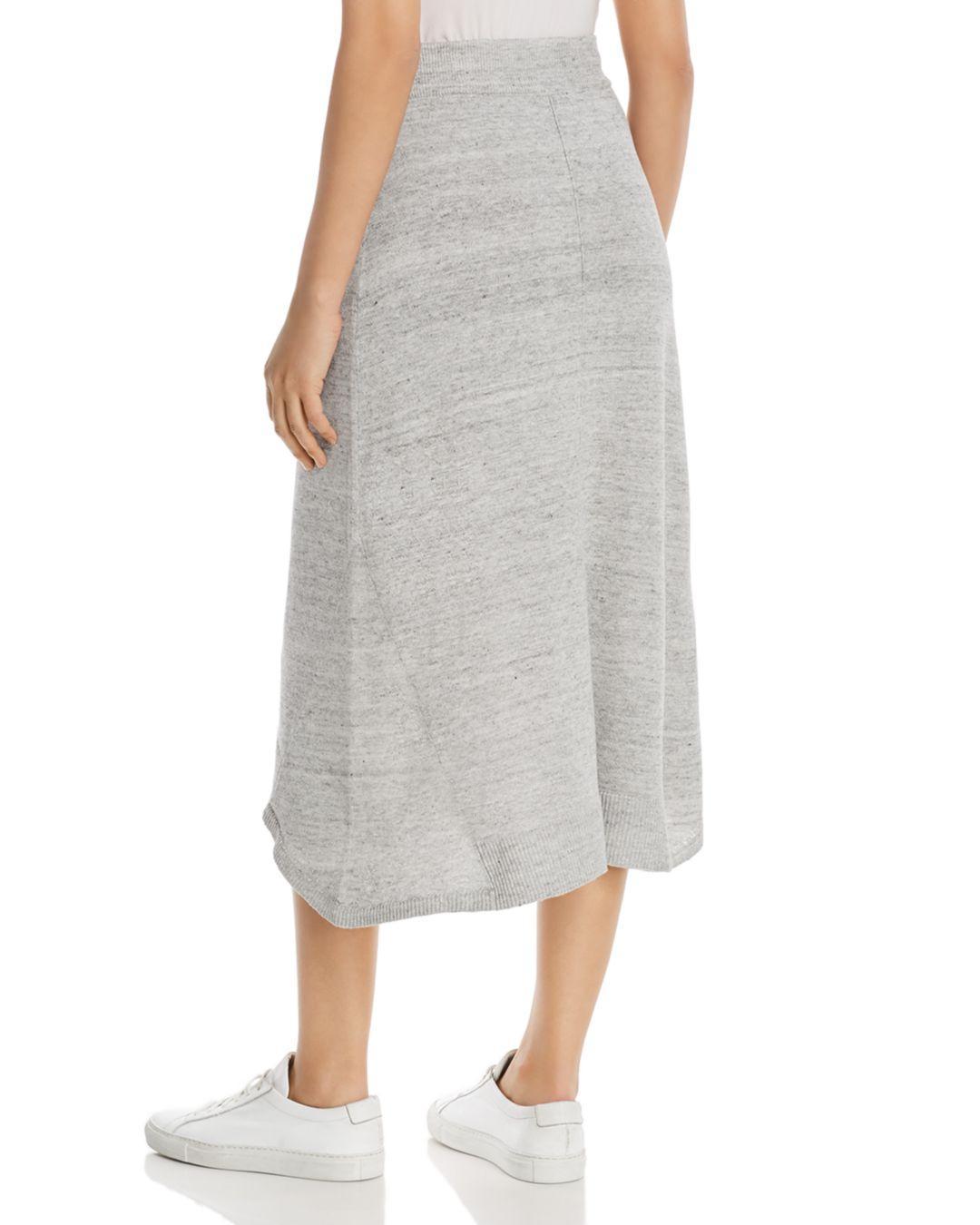4ad6b142c82 Lyst - DKNY Donna Karan New York Trapeze Midi Skirt