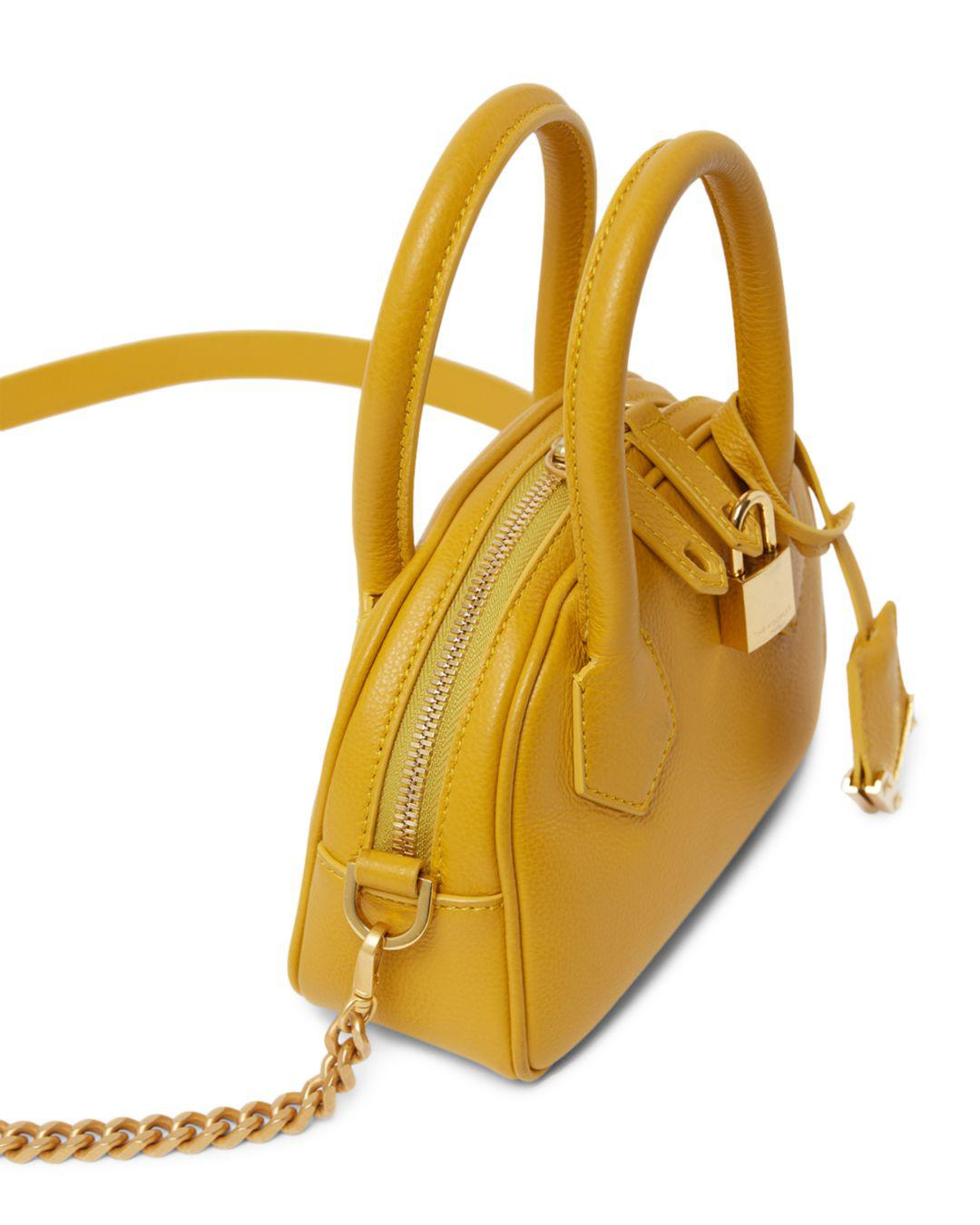 8ce986df438f The Kooples Irina Mini Leather Crossbody Bag in Yellow - Lyst