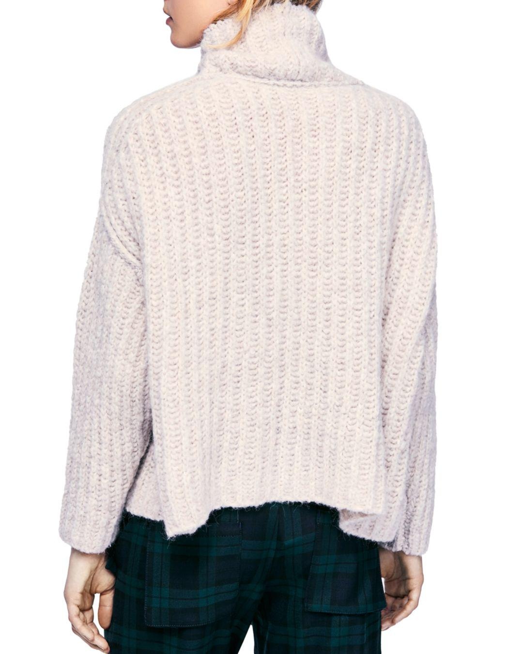 767c608399a Free People Boxy Turtleneck Sweater in Pink - Lyst