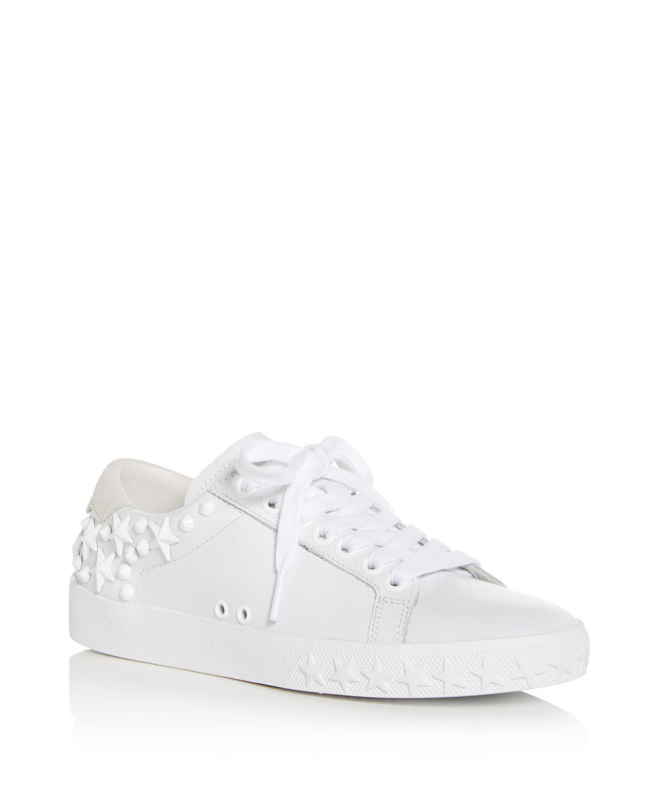 Ash Women's Dazed Embellished Leather Lace Up Sneakers
