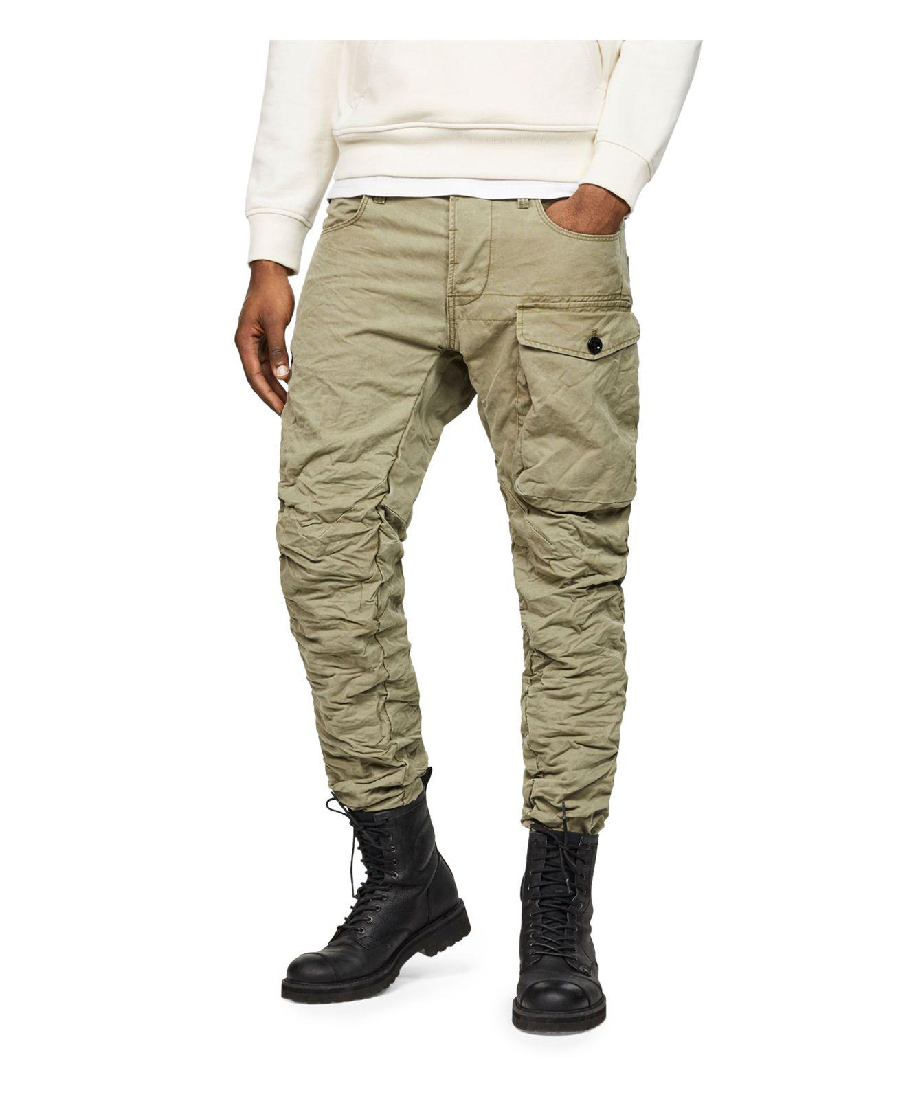 G-Star RAW. Men's Green Tendric 3d Tapered Fit Cargo Pants