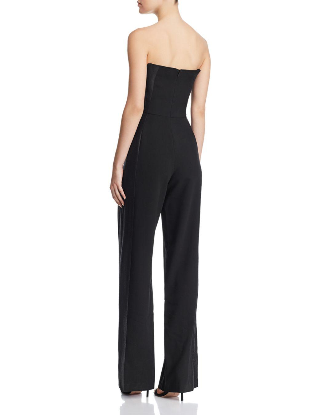 e8c2dd02052 Black Halo Lena Strapless Jumpsuit in Black - Lyst