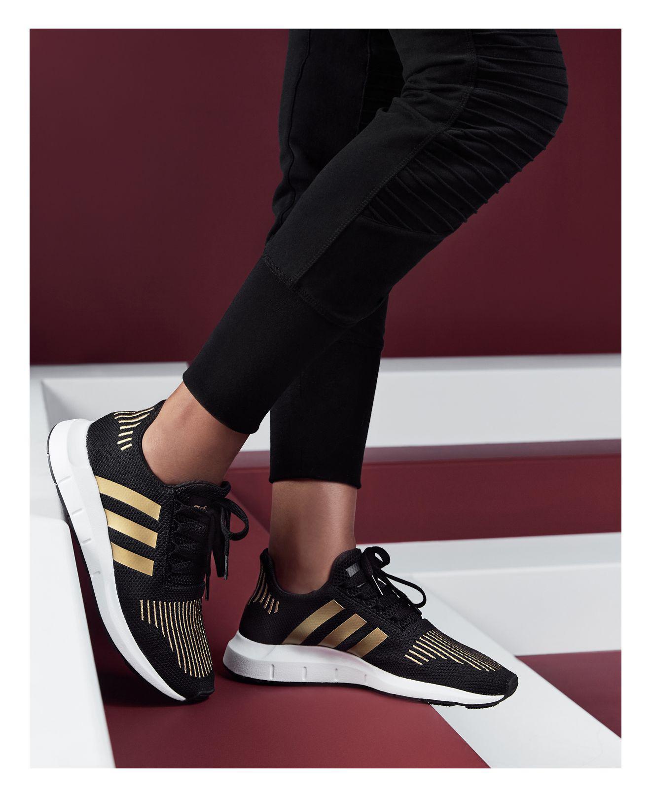 first rate a4b08 54ab0 adidas Women s Swift Run Sneakers in Metallic - Lyst
