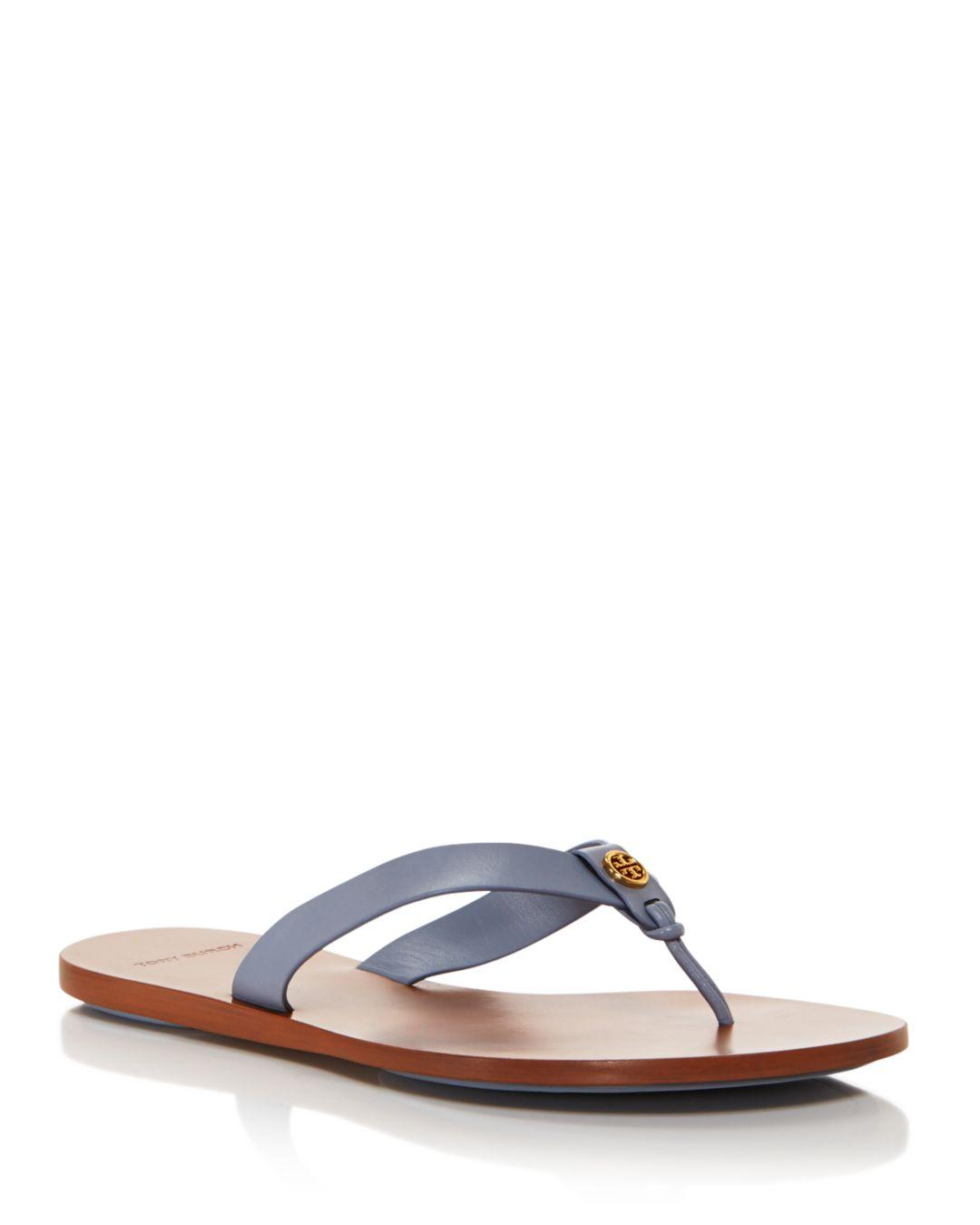 47cb41bd0660 Lyst - Tory Burch Women s Manon Leather Thong Sandals