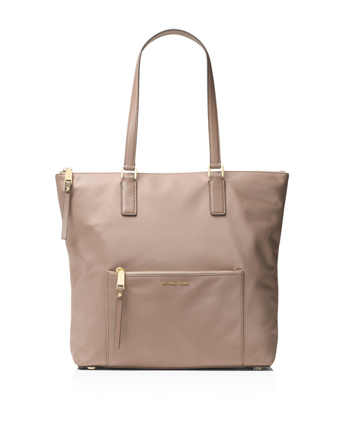 6e7a57ebb976 Lyst - MICHAEL Michael Kors Ariana North south Large Nylon Tote