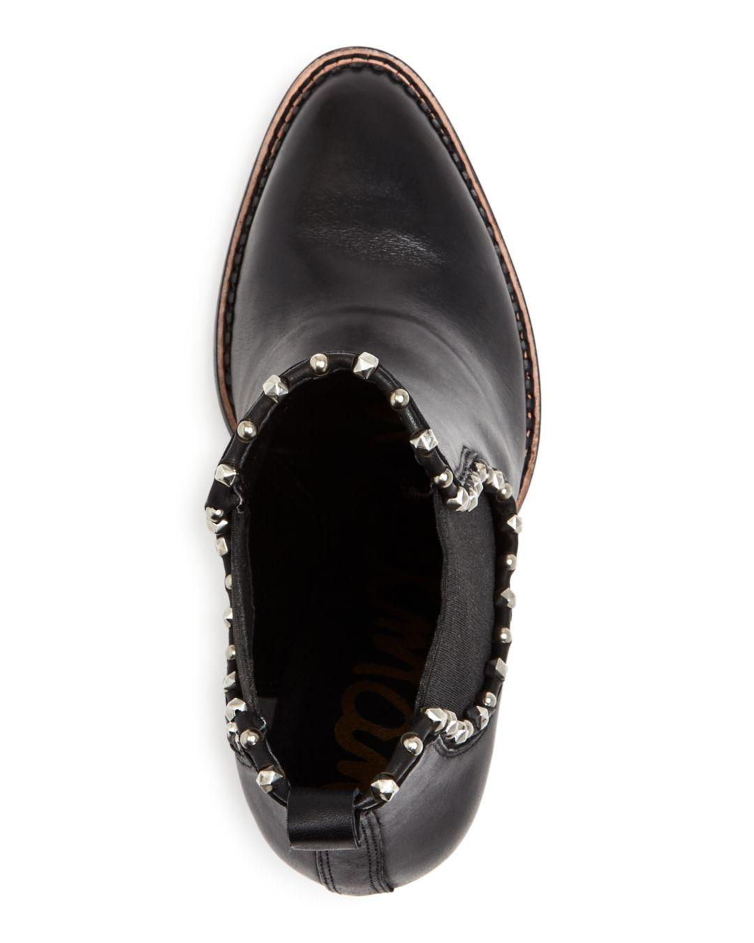 6d2fbd30842 Sam Edelman Women's Salma Studded High Block-heel Booties in Black ...