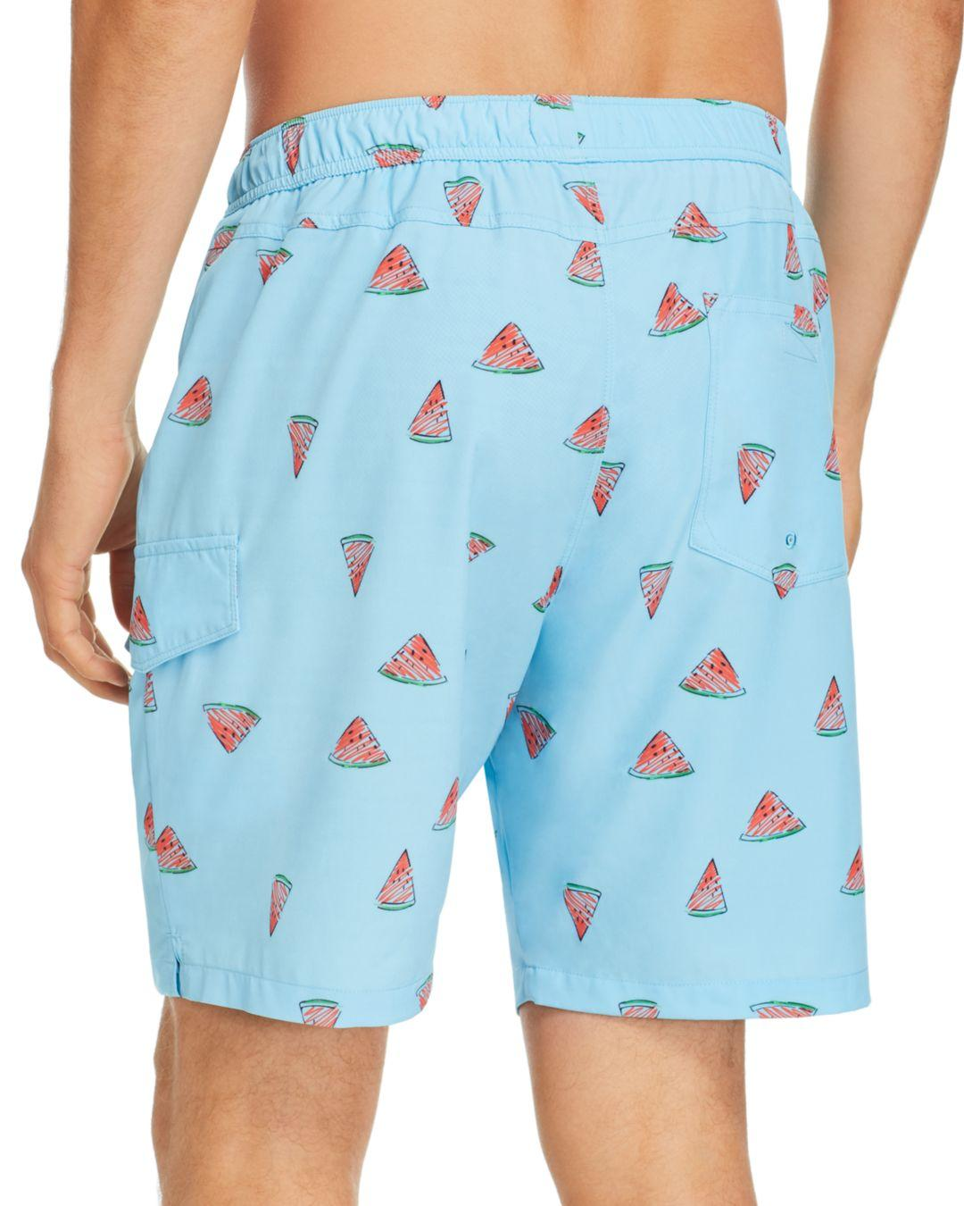 d8e55dff6d Sovereign Code Cannonball Watermelon - Print Swim Trunks in Blue for ...
